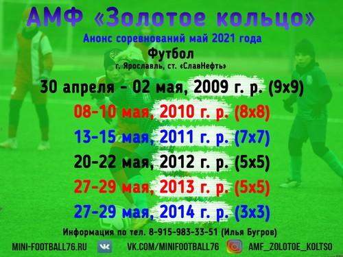Турниры по футболу в мае